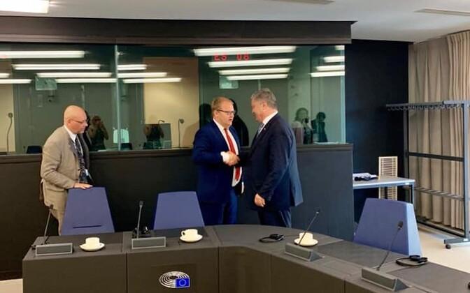 Urmas Paet met with former Ukrainian President Petro Poroshenko in Strasbourg this week.