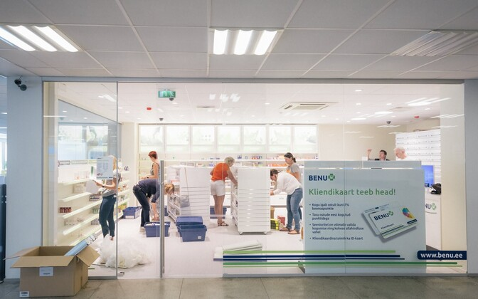 A new Benu pharmacy being set up at North Estonia Medical Centre (PERH).