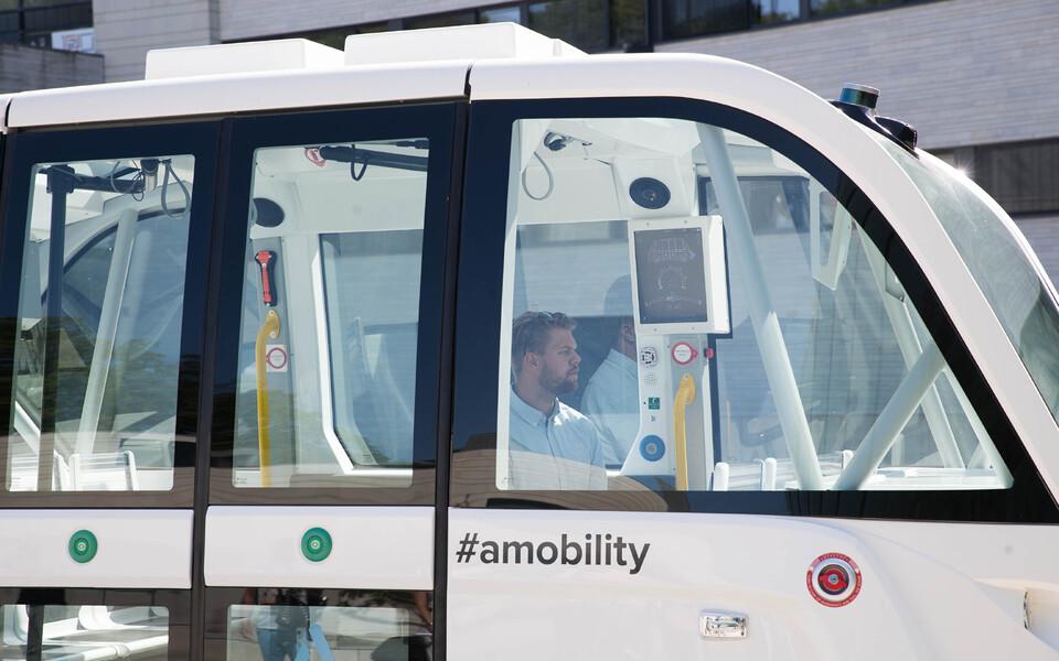 В Kumu представили беспилотный автобус.
