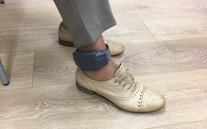 Ankle monitor. Photo is illustrative.