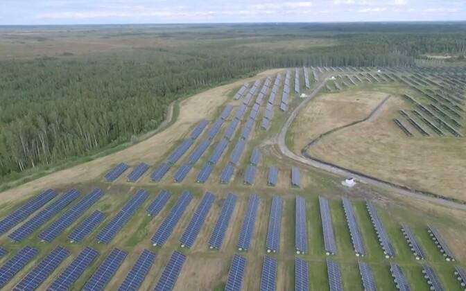 Eesti suurim päikesejaam Pärnus.