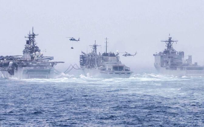 USA sõjalaevad Hormuzi väina lähistel Araabia meres