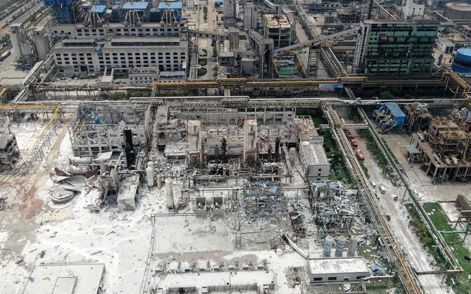 Gaasitehase plahvatuse tagajärjed.