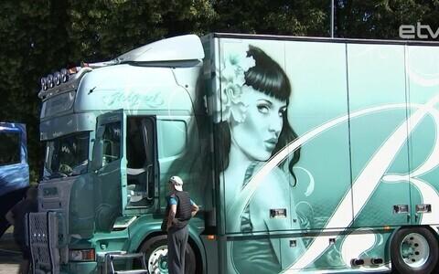 Тюнингованные грузовики в Таллинне.