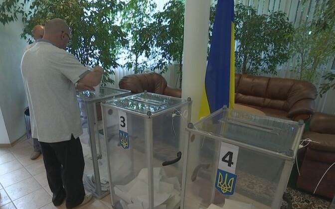 Elections at the Ukrainian Embassy in Tallinn on Sunday. July 21, 2019.