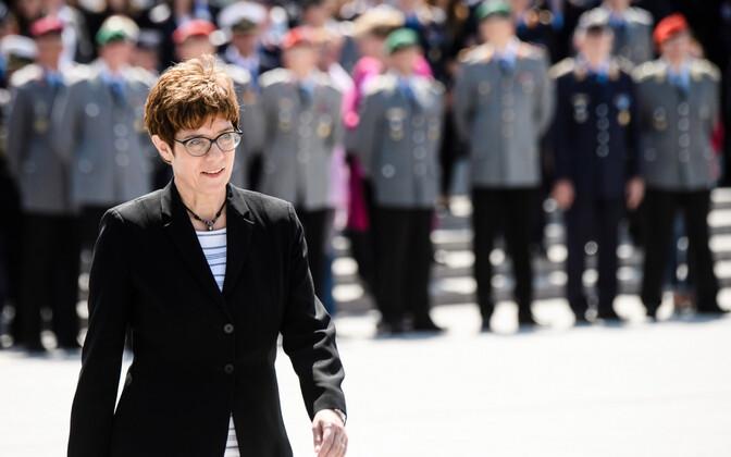 Kramp-Karrenbauer Saksa kaitseministriks asumise tseremoonial.