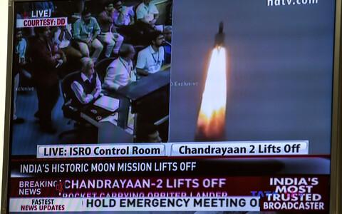 Kanderakett kosmosesondiga Chandrayaan-2.