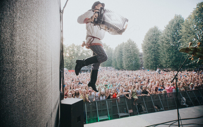 Эстонская группа Zetod на фестивале в Вильянди в 2018 году.