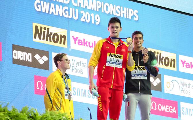 Mack Horton keeldus värske maailmameistri Sun Yangiga koos pjedestaalil olema