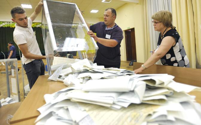 Häälte lugemine Kiievis.