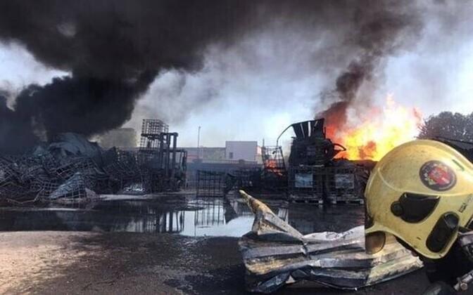 Rescue Board photo from the scene of the fire in Maardu. July 23, 2019.