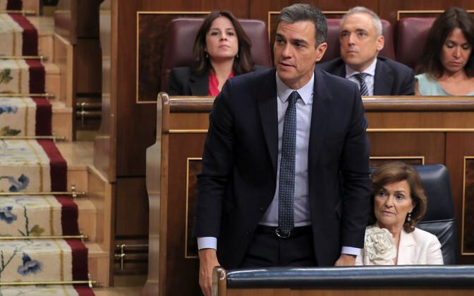 Pedro Sanchez teisipäeval Hispaania parlamendi alamkojas.