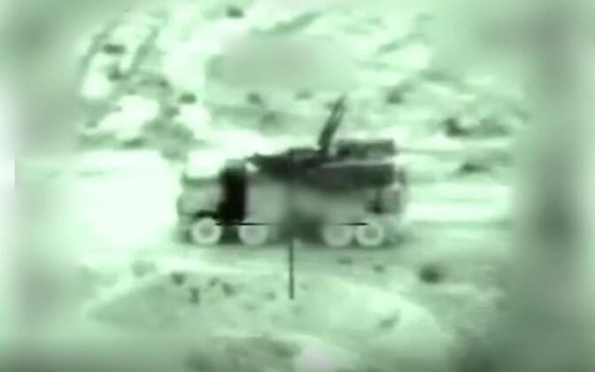 Iisraeli relvajõudude poolt jaanuaris avaldatud pilt operatsioonist Süürias.