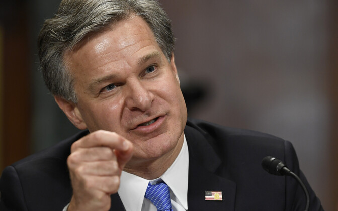 FBI direktor Christopher Wray senatis.
