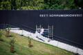 Algasid kommunismiohvrite memoriaali kahjustatud mälestustahvlite parandustööd