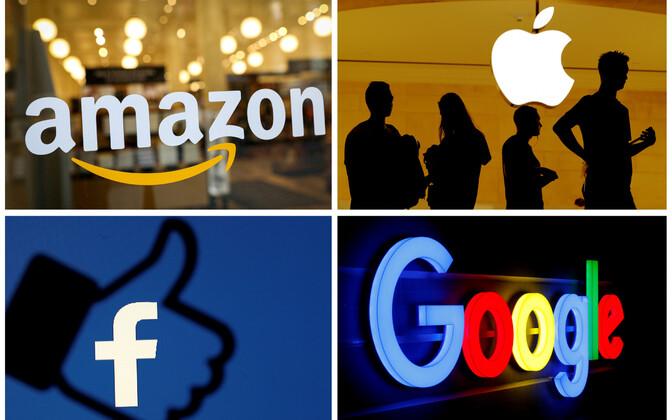Digihiiud Amazon, Apple, FAcebook ja Google.