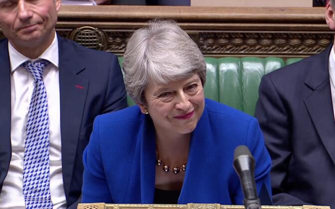 Theresa May viimast korda peaministrina parlamendi ees.