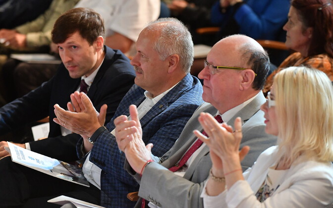 EKRE leaders Martin Helme, Henn Põlluaas and Mart Helme.