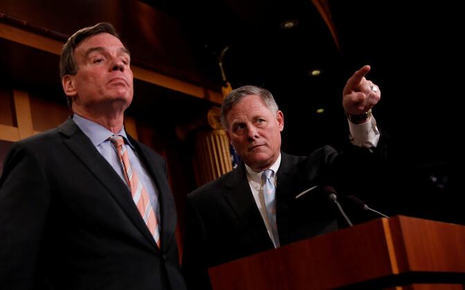 Demokraat Mark Warner ja vabariiklane Richard Burr senati luurekomiteest.