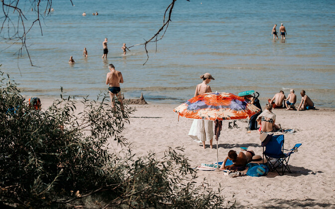 Juulikuu palavaim päev, 28. juuli Tallinnas Pirita rannas.
