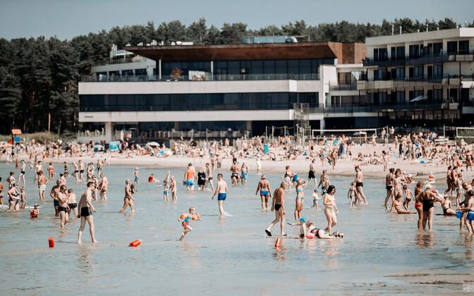 Жаркая погода в Таллинне.