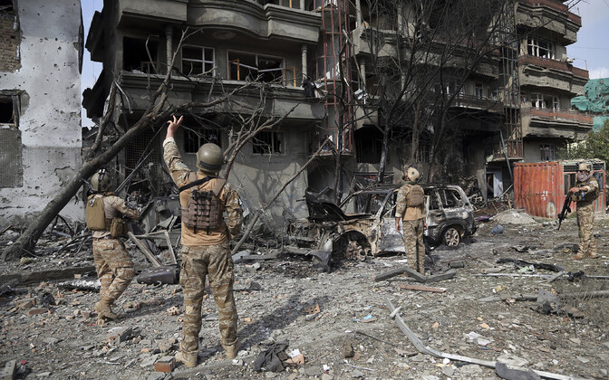 Офис вице-президента Афганистана после нападения.