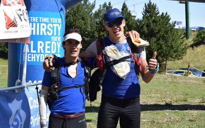 Timmo Tammemäe ja Rain Seepõld rogaini MM-i finišis.