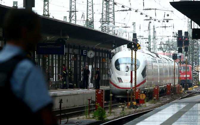 Sündmuskoht Frankfurdi raudteejaamas.