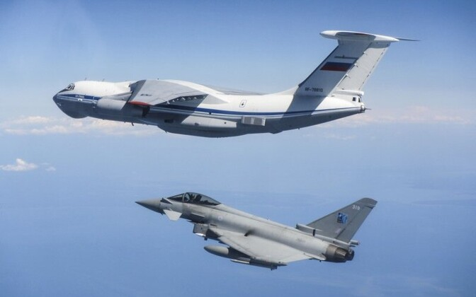 RAF Typhoon intercepting a Russian Ilyushin Il-76 in an earlier incident.