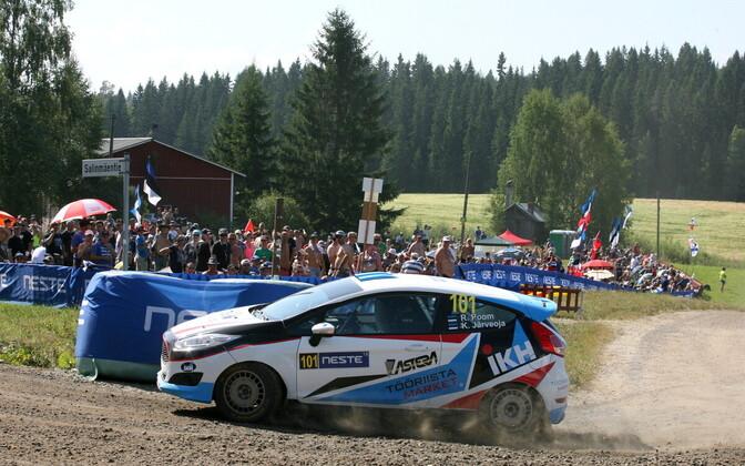 Roland Poom ja Ken Järveoja Soome MM-rallil.