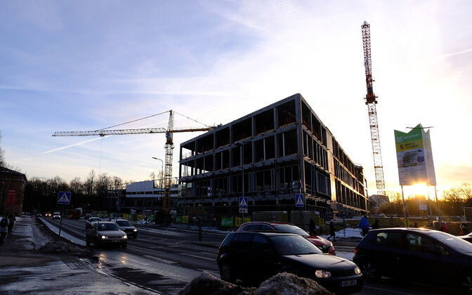 Construction of the University of Tartu's Delta Centre. Feb. 18, 2019.