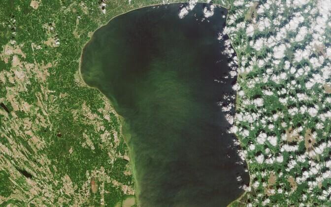 Satellite image of Lake Võrtsjärv. Photo is illustrative.