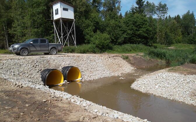 Очистка реки Пуртсе.