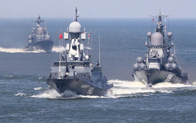 Vene sõjalaevad Kaliningradi lähistel.