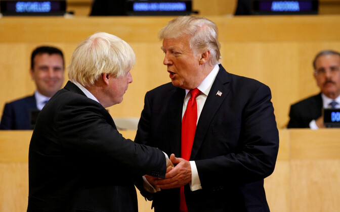 Boris Johnson ja Donald Trump.