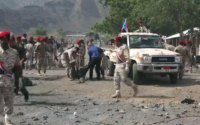 Jeemeni sõjaväelased pärast rünnakut 1. augustil.