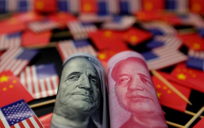 USA ja Hiina raha.