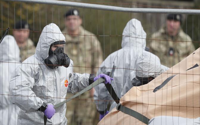 Briti keemiarelvaeksperdid Salisburys 2018. aasta märtsis.