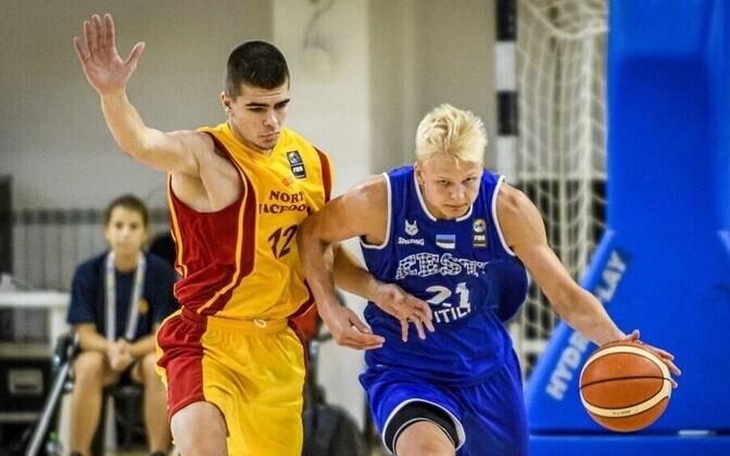 Joonas Riismaa mängus Põhja-Makedoonia vastu