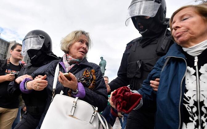 Акции протеста в Москве.