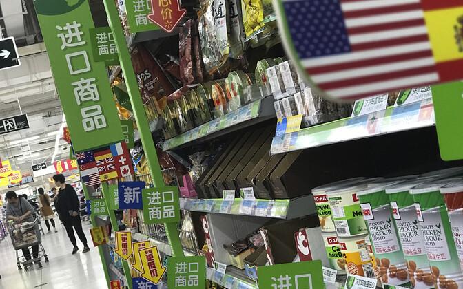 Välismaalt imporditud kaubad Pekingi kaupluses.