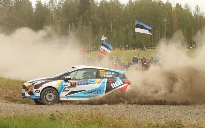 Roland Poom - Ken Järveoja Soome rallil.