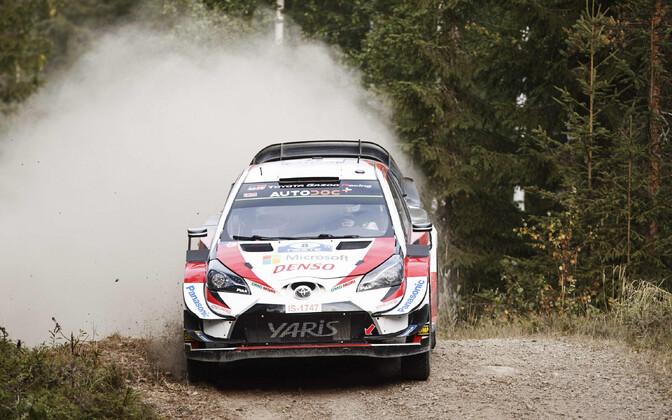 Ott Tänak and Martin Järveoja at Rally Finland.