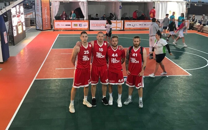 TalTechi 3x3 korvpallimeeskond koosseisus Joonas Järveläinen, Sten Olmre, Levi Martin Giese ja Sander Viilup.