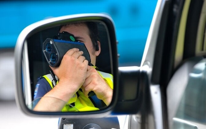 Police testing vehicle speeds. Photo is illustrative.