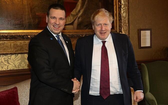 Prime Minister Jüri Ratas (Centre) and British Prime Minister Boris Johnson.