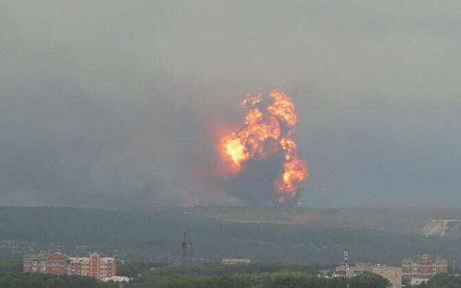 Взрыв произошел в Красноярском крае рядом с селом Каменка, в 20 км от Ачинска.
