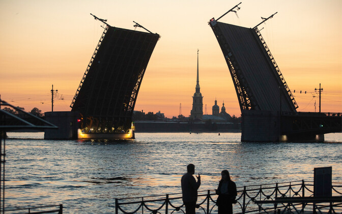 St. Petersburg is known for its famous drawbridges.