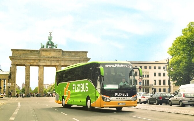 FlixBus passenger bus in Berlin.