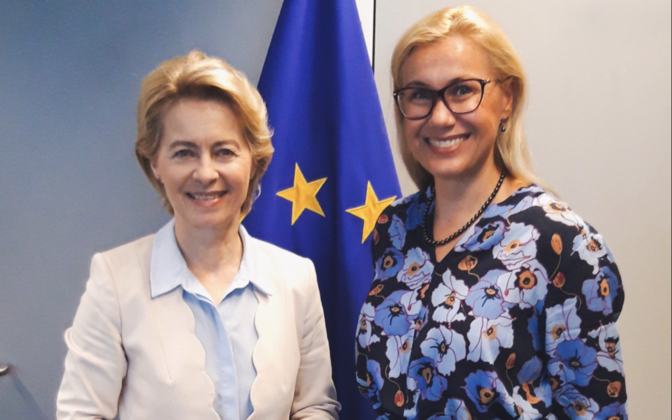 Ursula von der Leyen and Kadri Simson, Aug. 7, 2019.
